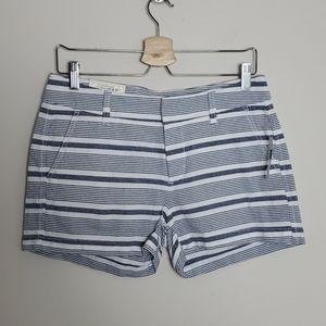 Gap girlfriend 3 inch striped shorts NWT